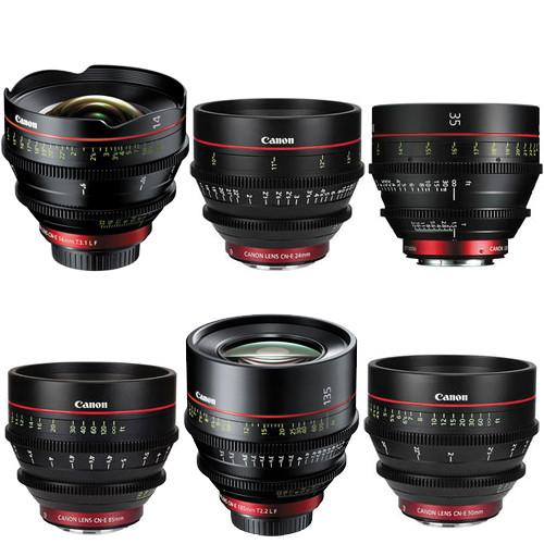 Canon EF Cinema Prime Lens Kit